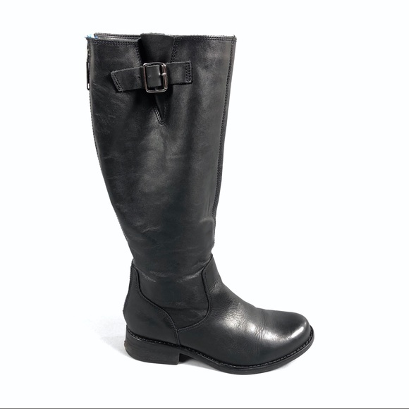 3e7ce9ce389 Steve Madden trico tall black leather boots